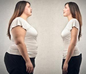 femme avant après perte de poids